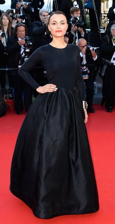 Red carpet | Samantha Barks in Christian Dior at Cannes Film Festival 2013 | Hair by Johnnie Sapong