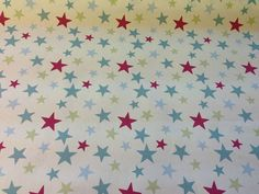 Designer 100% Cotton Funky Stars & Stripes Curtain Fabric Children Bedroom Craft   eBay