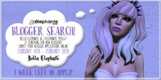 Bella Elephante & Elephante Poses Blogger Search 1 Week Left | Flickr - Photo Sharing!
