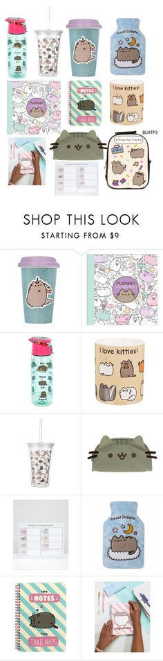 """Pusheen merchandise #1"" by cheerandkpop4ever ❤ liked on Polyvore featuring interior, interiors, interior design, home, home decor, interior decorating and Pusheen"