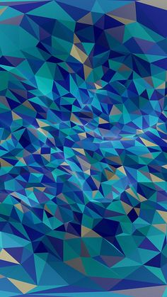 Get Wallpaper: http://bit.ly/2k04Hcg vr56-metaphysics-hampus-olsson-art-blue-polygon-pattern via http://iPhone6papers.com - Wallpapers for iPhone6 & plus