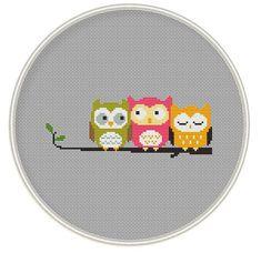 Owls Cross stitch pattern Counted cross stitch от MagicCrossStitch