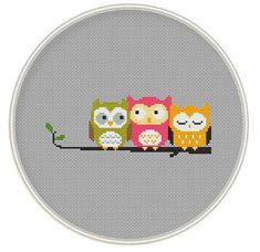 Owls Cross stitch pattern Counted cross stitch pattern