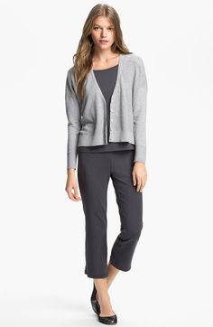 Kalso Yoga Style – Eileen Fisher Cardigan, Tee & Yoga Pants | Nordstrom