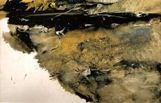 Andrew Wyeth (1917 — 2009, USA) Floating Leaves. 1958 watercolor.  © Andrew Wyeth