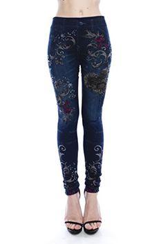 VIRGIN ONLY Women's Denim Jeans Printed Elastic Waist Ban... https://www.amazon.com/dp/B01C7YE9QM/ref=cm_sw_r_pi_dp_x_rSWuybT9XSJYV