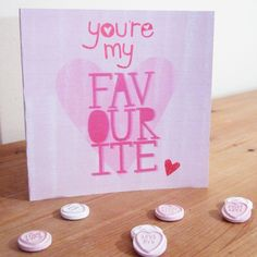 You're My Favourite Illustrated Card by Madi