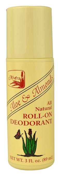 Alvera All Natural Roll-On Deodorant Aloe and Almonds