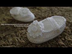 Conjunto Sapatinho + Faixa em Crochê Parte-2 - YouTube