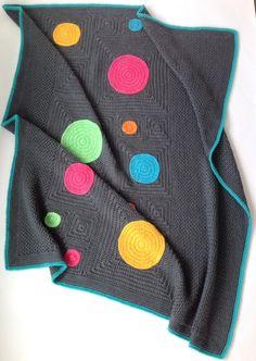 Squircles Modern Crochet Blanket Pattern by PoppyandBliss on Etsy