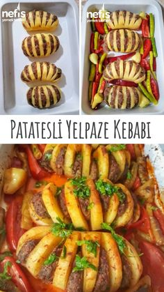 Yelpaze Patates Kebabı – Nefis Yemek Tarifleri How to make Fan Potato Kebab Recipe? Illustrated explanation of the Fan Potato Kebab Recipe in the book of people and photos of those who try it are here. German Cucumber Salad, Turkish Recipes, Ethnic Recipes, Kebab Recipes, Cake Recipes, Dried Beans, Arabic Food, Keto Diet For Beginners, Different Recipes