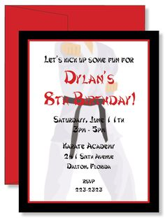 12 Custom Personalized Karate Birthday Party by laurieattheden, $11.00