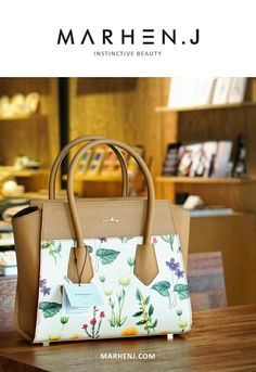MARHEN.J tote - megan camel flower  www.marhenj.com