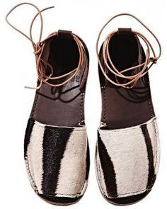 artafrica: Zebra Congo Sandals