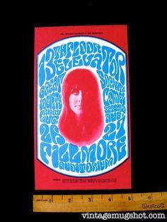 13th Floor ElevatorOriginal Concert Postcard Flier  Fillmore  BG #25  1966 Wes Wilson Grace Slick