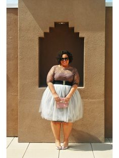 Chastity of @GarnerStyle looks like an absolute princess in her Kiyonna top + ballerina skirt! We love :)