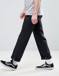 Buy Dickies 873 work pant chino in straight fit at ASOS. Get the latest trends with ASOS now. Best Mens Fashion, Fashion Wear, Dickie Work Pants, Dickies Pants, Vans Outfit, Skate Style, Swag Outfits, Prom Outfits, Mens Clothing Styles