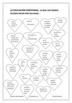Educación emocional: lo que los padres pueden hacer por los hijos Bilingual Education, Education English, Free Frames, How To Know, Counseling, Psychology, Coaching, Spanish, Mindfulness