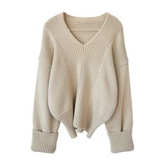 Beige V Neck Rolled Sleeve Jumper (1 185 UAH) ❤ liked on Polyvore featuring tops, sweaters, beige sweater, brown tops, jumpers sweaters, beige top and v neck jumper