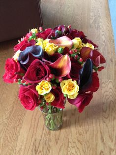 Another view of the bridal bouquet I did in December