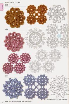 World crochet: Crocheted motifs