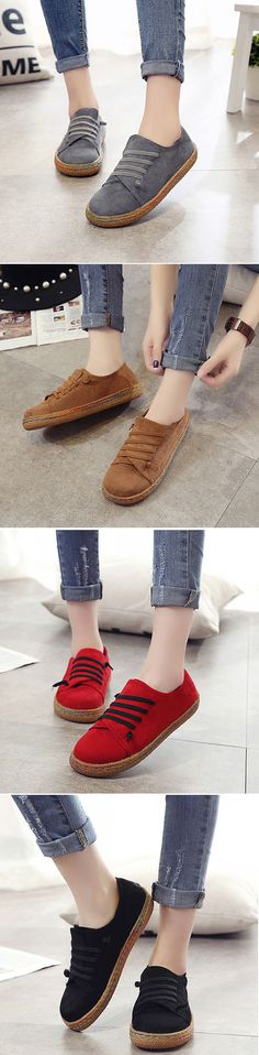 Suede Slip On Soft Loafers Lazy Casual Flat Shoes For Women is cheap and comfortable. There are other cheap women flats and loafers online. Cute Shoes, Me Too Shoes, Flat Shoes Outfit, Casual Shoes, Looks Cool, Crazy Shoes, What To Wear, Shoe Boots, Tall Boots