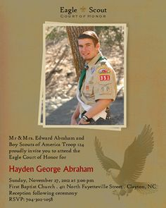 Eagle Scout Invitations-Vintage Scout