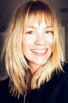 January Jones cuts bangs! Click ahead for more celebrity hair changes