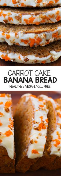 HEALTHY: Carrot Cake Banana Bread With Thick Homemade Frosting