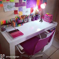Study Room Decor, Cute Room Decor, Room Decor Bedroom, Study Table Designs, Desk Organization Diy, Aesthetic Room Decor, Dream Rooms, Room Inspiration, Stationeries