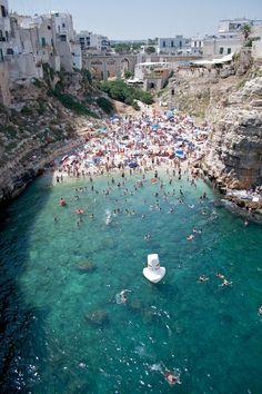 Polignano a Mare in Puglia, Italy…