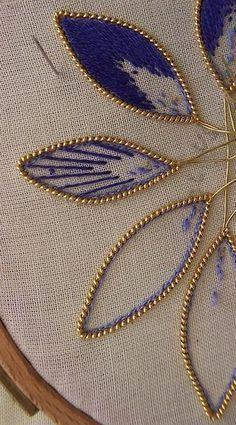 beads and embroidery: cutting out petals