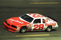 Cale Yarborough in the Hardees Thunderbird at speed.