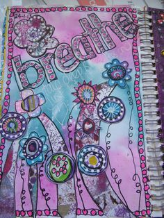 Breathe Art Journal page