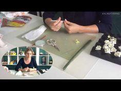 "Букет из зефирной глины ""Гартензия"" ч6/ Flower clay craft tutorial ""Hydrangea' Part6 - YouTube"