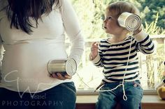 Big Sister Maternity Photos #telephonegame