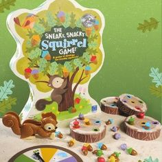 The Sneaky Snacky Squirrel Game. Very easy and fun game for preschoolers!  I have it, and the kids in my class loved playing it, and it's also great for fine motor skills because the kids have to use the squirrel tweezer to pick up the acorns.