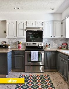 Kitchen Before & After: From Blah Brown to Gray and White For $700 — Kitchen Remodel