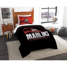 Miami Marlins The Northwest Company Grand Slam Twin Comforter Set