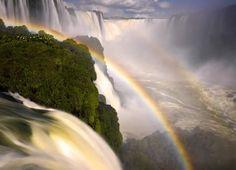 Somewhere over the rainbow lies Iguazu Waterfalls