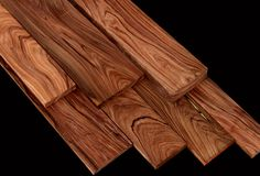 "Bolivian Rosewood (Macherium scleroxylon) shares many characteristics of true rosewoods including its colors, working properties and density. Colors range from violet streaks to coffee browns and black. The trees grow in Bolivia and some of the surrounding Countries. Logs are small and usually only produce lumber 3-6"" wide.  Only a small percentage of logs are large enough to cut high quality wide boards (boards 8"" are considered wide for this species)."