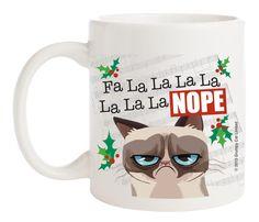 Ganz Grumpy Cat Porcelain Coffee Mug - Fa La la Nope