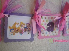 Bubble Guppies High Chair Banner on Etsy, $13.00