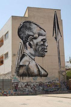 Warrior  -- Crisis [?] What Crisis [?] -- Street art Event. Athens, Greece