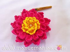 PAP – Flor Bromélia ~ translate for the free pattern ᛡ