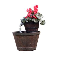 Exaco FM 0200 Endura Clay Whiskey Barrel Planter Fountain ** Review More  Details Here