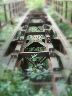 Abandoned rail track, Romania