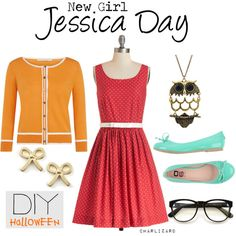 """""""Jessica Day, DIY Halloween"""" by charlizard on Polyvore"""