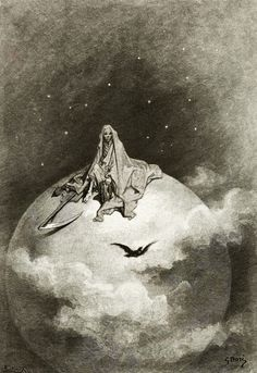 Illustration of Edgar Allan Poe's, The Raven, 1883 by Gustave Dore