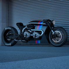 BMW R nineT Cafe Racer Twin Turbo design by Ziggy Moto #motorcycles #caferacer #motos | caferacerpasion.com Bmw Cafe Racer, Cafe Racer Motorcycle, Bobber Custom, Custom Bikes, Custom Cars, Bike Bmw, Cafe Bike, Concept Motorcycles, Bmw Motorcycles